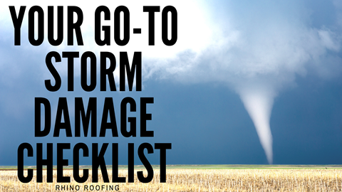 Your Go-To Storm Damage Checklist